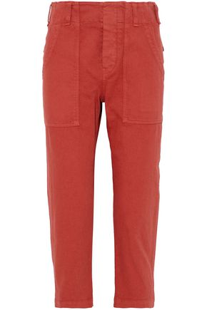 BRUNELLO CUCINELLI Cotton-twill slim-leg pants