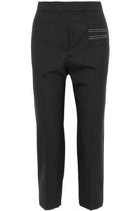 BRUNELLO CUCINELLI Bead-embellished wool straight-leg pants