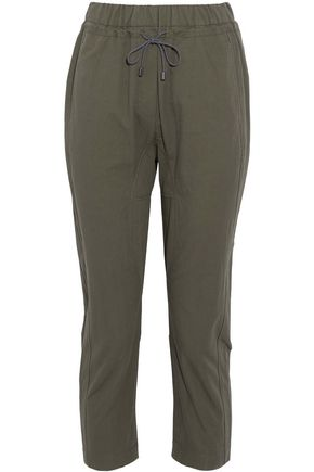 BRUNELLO CUCINELLI Cropped cotton-blend straight-leg pants