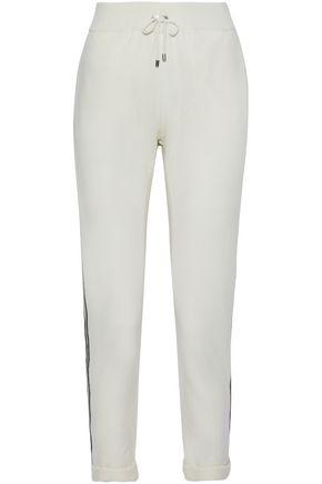 BRUNELLO CUCINELLI Bead-embellished cashmere track pants