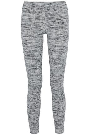 SPLENDID Marled ribbed-knit leggings