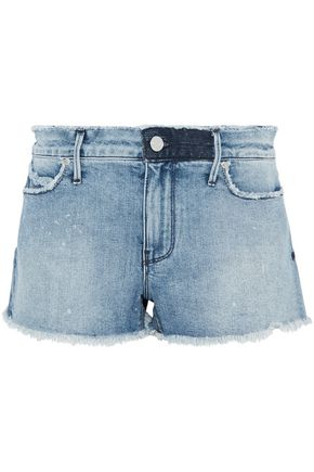 RTA Distressed denim shorts