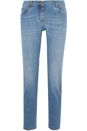 BRUNELLO CUCINELLI Distressed low-rise straight-leg jeans