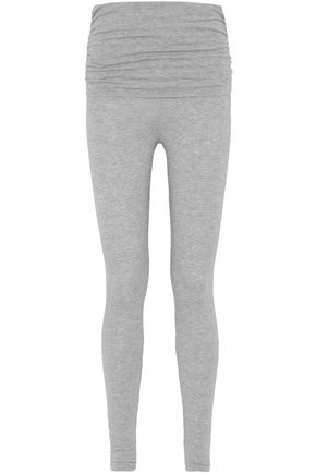 SPLENDID Ruched mélange stretch-modal leggings
