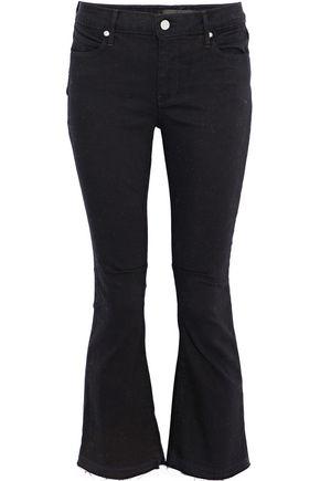 RTA Kiki frayed high-rise kick-flare jeans