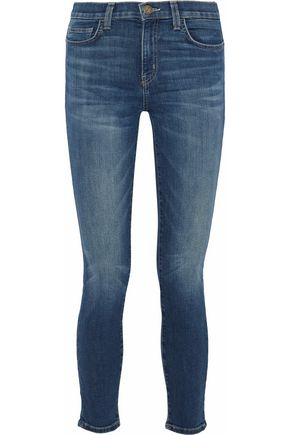 CURRENT/ELLIOTT Faded mid-rise skinny jeans