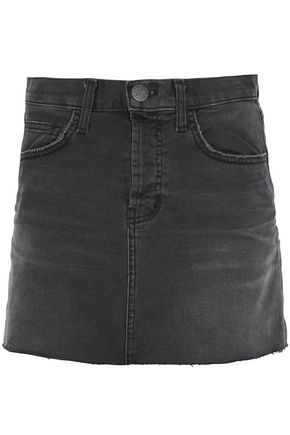 CURRENT/ELLIOTT Frayed denim mini skirt