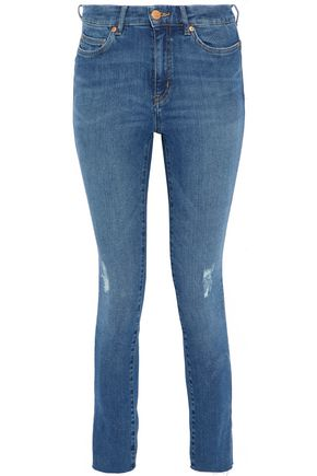 M.I.H JEANS Distressed high-rise skinny jeans