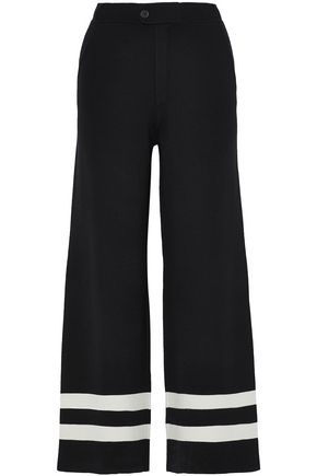 CHINTI AND PARKER Intarsia wool wide-leg pants