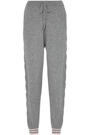 CHINTI AND PARKER Wool and cashmere-blend knitted track pants