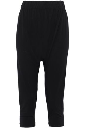 ENZA COSTA Cropped stretch-jersey tapered pants