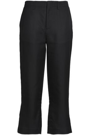 CO Silk bootcut pants