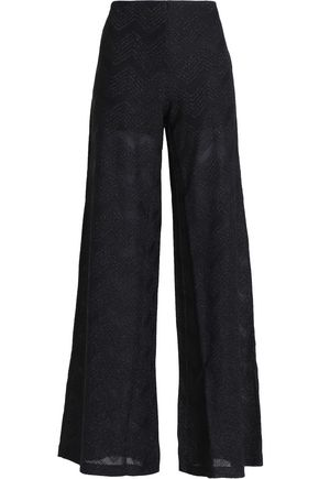 M MISSONI Cotton-blend wide-leg pants