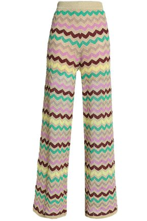 M MISSONI Geometric design knitted wide-leg pants