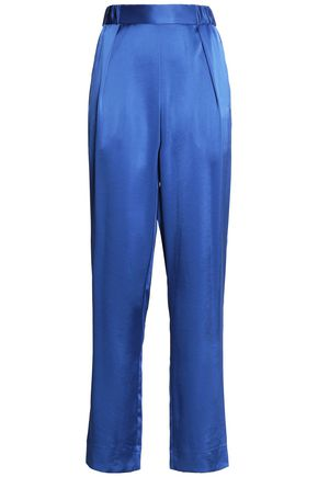 DIANE VON FURSTENBERG Satin tapered pants