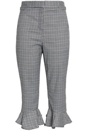 W118 by WALTER BAKER Cropped Prince of Wales crepe tapered pants