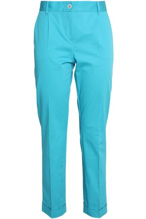 DOLCE & GABBANA Cotton-blend twill tapered pants
