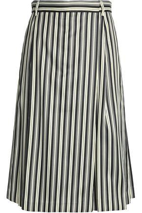 McQ Alexander McQueen Pinstriped midi skirt