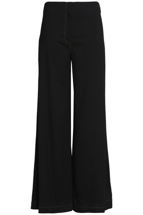 McQ Alexander McQueen Wool-crepe flared pants