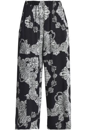 McQ Alexander McQueen Printed twill wide-leg pants
