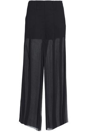 McQ Alexander McQueen Silk-crepe wide-leg pants