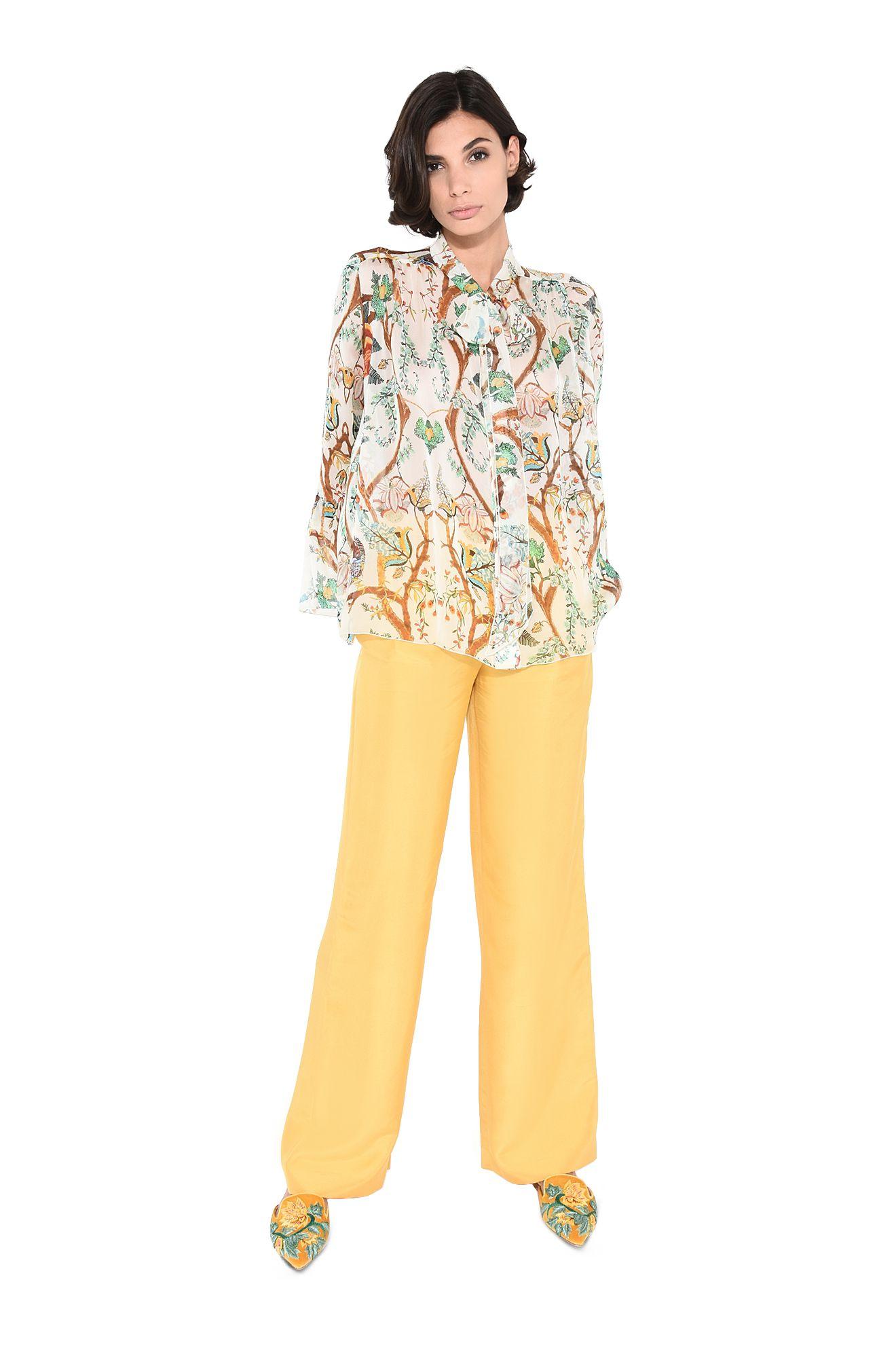 Pantaloni pigiama ocra