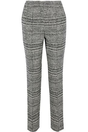 JASON WU Houndstooth wool-tweed straight-leg pants