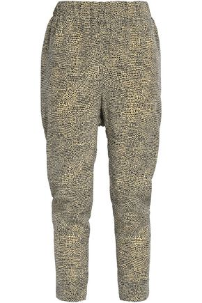 MARNI Printed silk tapered pants