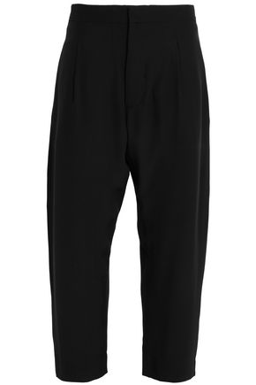 MARNI Cropped silk crepe de chine straight-leg pants