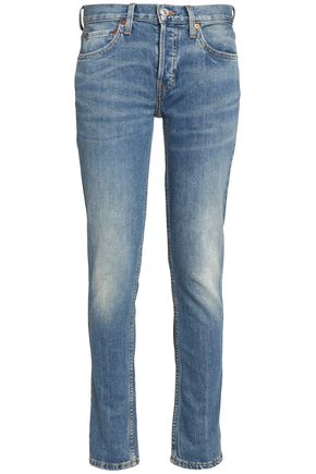 RE/DONE by LEVI'S Faded low-rise straight-leg jeans