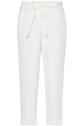 IRO Tie-front cropped cady tapered pants