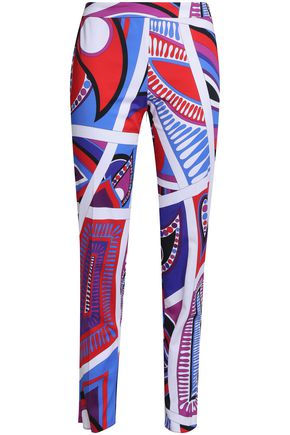 EMILIO PUCCI Printed cotton-blend tapered pants