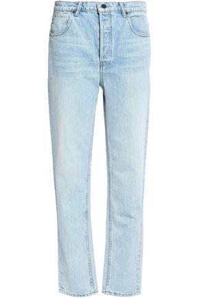 ALEXANDER WANG Faded high-rise straight-leg jeans