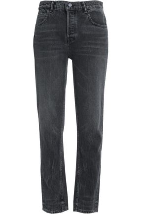 Faded High Rise Straight Leg Jeans by Alexander Wang