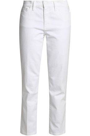 TORY BURCH Cropped mid-rise straight-leg jeans