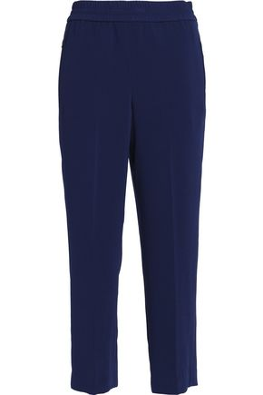 TORY BURCH Cropped crepe straight-leg pants