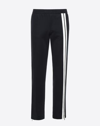 VALENTINO UOMO Pants with contrasting bands  Dark blue POLIESTERE 13154119EI