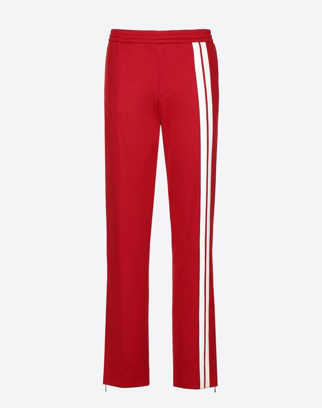 Pants with contrasting bands