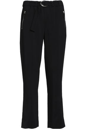 BELSTAFF Belted crepe straight-leg pants