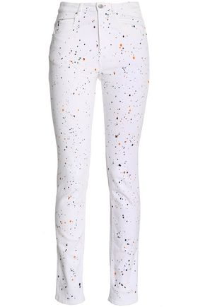ISABEL MARANT ÉTOILE Printed high-rise skinny jeans