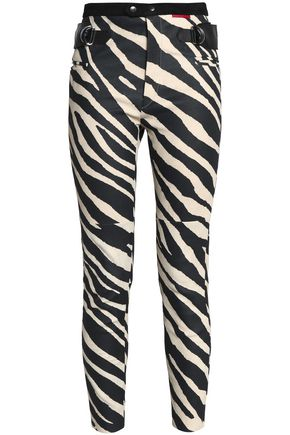 ISABEL MARANT Cropped zebra-print leather skinny pants
