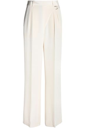 T by ALEXANDER WANG Belted silk-canvas wide-leg pants