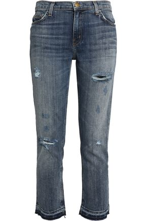CURRENT/ELLIOTT Mid-rise straight-leg jeans