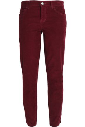 CURRENT/ELLIOTT Corduroy slim-leg pants