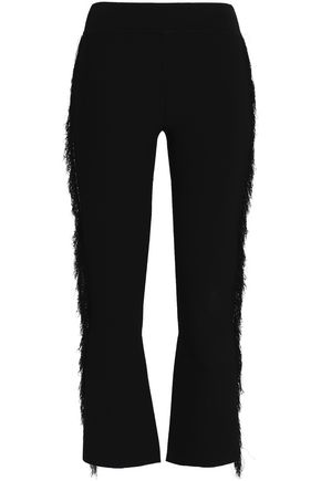 OPENING CEREMONY Frayed stretch-ponte bootcut pants