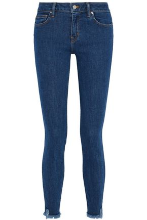 IRO Frayed mid-rise skinny jeans