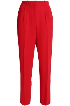 CLAUDIE PIERLOT Pleated tapered crepe pants
