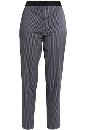 CLAUDIE PIERLOT Striped twill tapered pants