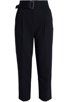 MAJE Belted twill tapered pants