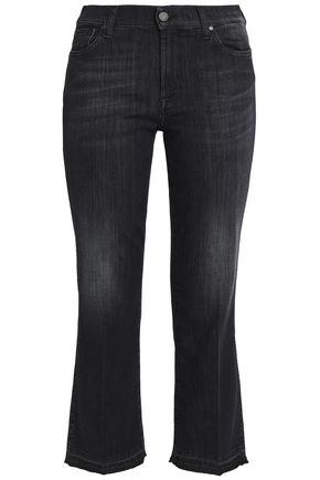 7 FOR ALL MANKIND Faded mid-rise flared jeans